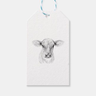Etiquetas Para Regalos MOO una vaca joven del jersey