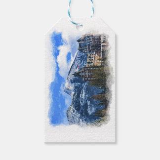 Etiquetas Para Regalos Mt Rundle y hotel famoso, Banff, Alta, Canadá