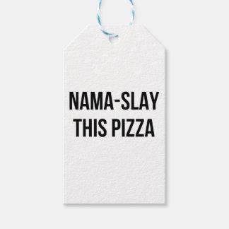 Etiquetas Para Regalos Nama-Mate la pizza