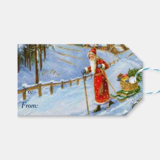 Etiquetas Para Regalos Navidad del padre del vintage