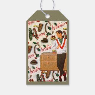 Etiquetas Para Regalos Navidad del vintage para él