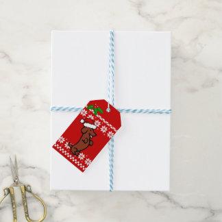 Etiquetas Para Regalos Navidad lindo del Dachshund de Santa