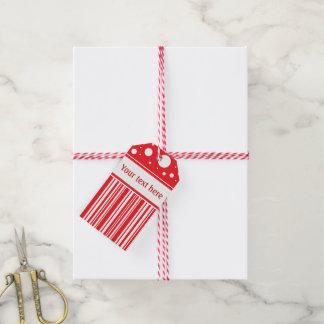 Etiquetas Para Regalos Navidad rojo y blanco