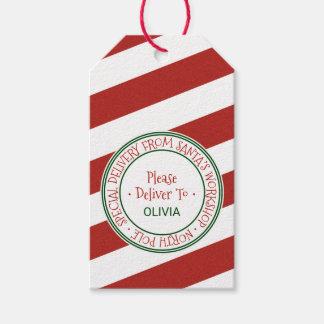 Etiquetas Para Regalos Nombre del navidad del taller de Santa