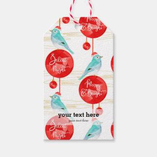 Etiquetas Para Regalos Ornamentos y pájaros del navidad