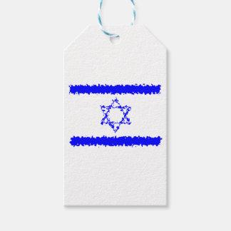 Etiquetas Para Regalos País del azul de Israel de las banderas