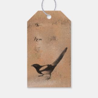 Etiquetas Para Regalos Pájaro rústico antiguo