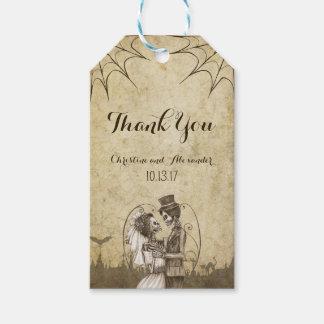 Etiquetas Para Regalos Pares esqueléticos para el boda de Halloween