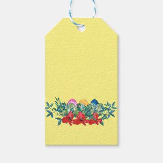 Etiquetas Para Regalos Pascua, flor, huevos, acuarela
