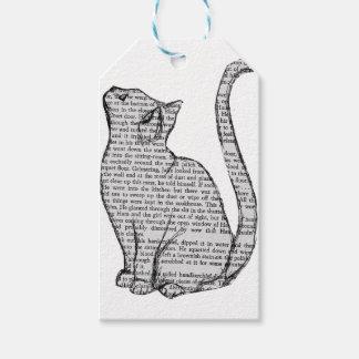 Etiquetas Para Regalos pegatina del libro de lectura del gato