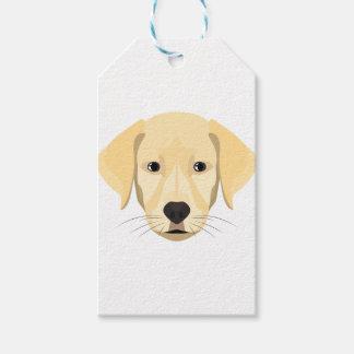 Etiquetas Para Regalos Perrito Retriver de oro del ilustracion