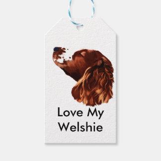 Etiquetas Para Regalos Perro de aguas de saltador galés de las felices