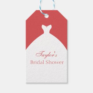 Etiquetas Para Regalos Personalizado hermoso del vestido de boda