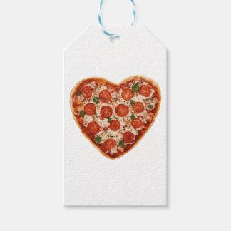 Etiquetas Para Regalos pizza en forma de corazón