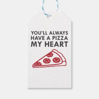 Etiquetas Para Regalos Pizza mi corazón