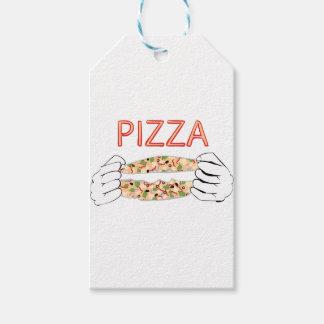 Etiquetas Para Regalos Pizza sabrosa del dibujo animado y Hands3