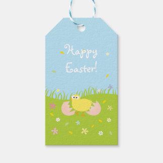 Etiquetas Para Regalos Polluelo lindo feliz del bebé de Pascua