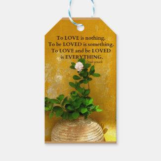 Etiquetas Para Regalos proverbio del Griego de la cita del amor del
