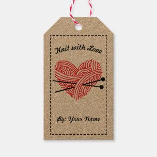 Etiquetas Para Regalos Punto con amor/instrucciones de cuidado • Artes