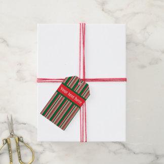 Etiquetas Para Regalos Rayas del navidad
