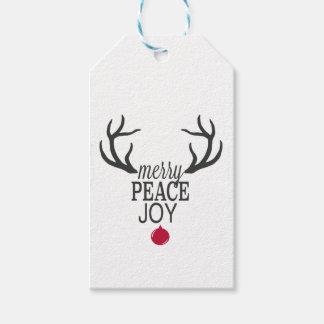 Etiquetas Para Regalos Reno moderno del navidad de las tendencias