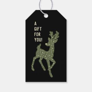 Etiquetas Para Regalos Reno/regalo del verde y del blanco para la