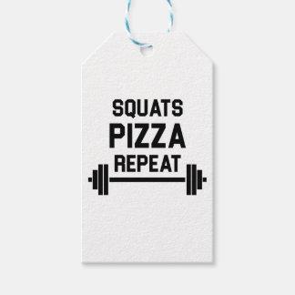 Etiquetas Para Regalos Repetición de la pizza de las posiciones en
