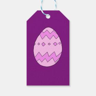 Etiquetas Para Regalos Rosa del huevo de Pascua