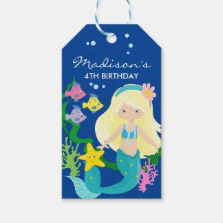 Etiquetas Para Regalos Sirena del feliz cumpleaños el | debajo del mar