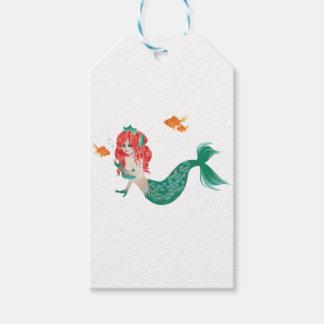 Etiquetas Para Regalos Sirena pelirroja 2