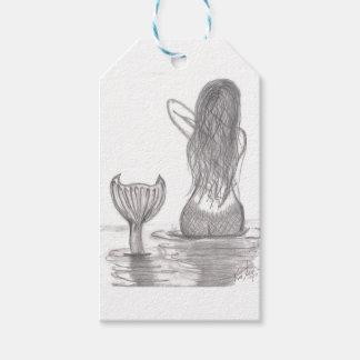 Etiquetas Para Regalos Sirena pensativa