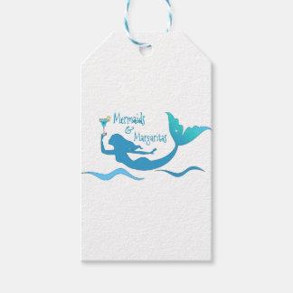 Etiquetas Para Regalos Sirenas y Margaritas que envuelven fuentes