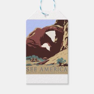 Etiquetas Para Regalos Sudoeste América los E.E.U.U. del poster del viaje