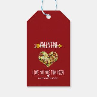 Etiquetas Para Regalos Tarjeta del día de San Valentín, te amo más que la