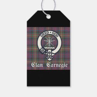 Etiquetas Para Regalos Tartán del escudo de Carnegie del clan