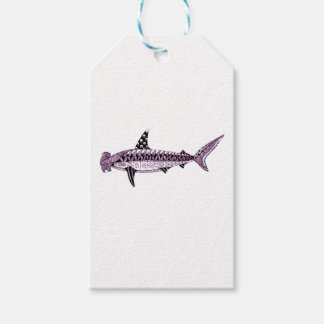 Etiquetas Para Regalos Tiburón de Hammerhead