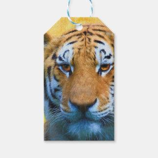 Etiquetas Para Regalos Tigre en el bambú - pintura