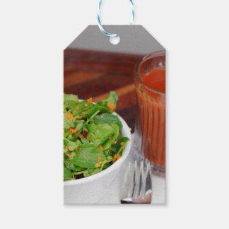 Etiquetas Para Regalos Tomate de la zanahoria del jengibre que viste la