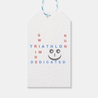 Etiquetas Para Regalos Triathlon soy dedicado