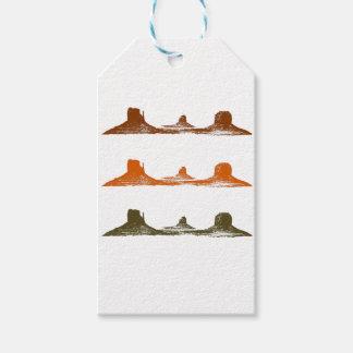 Etiquetas Para Regalos Valle del monumento, 3 montañas, 3 colores