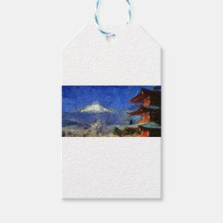 Etiquetas Para Regalos Van Gogh Mt-Fuji-Japón