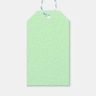 Etiquetas Para Regalos Verde menta de la luz del color del Web del código