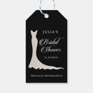 Etiquetas Para Regalos Vestido de boda purpurinoso