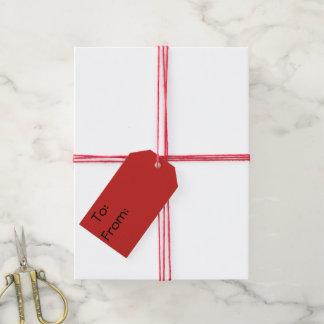 Etiquetas Para Regalos Vórtice rojo con Felices Navidad de las estrellas