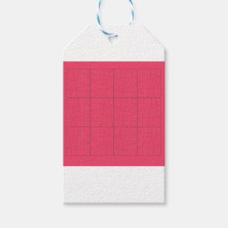 Etiquetas Para Regalos Zigzag rosado de los elementos del diseño