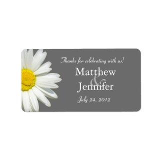 Etiquetas/pegatinas del favor del boda de la etiqueta de dirección