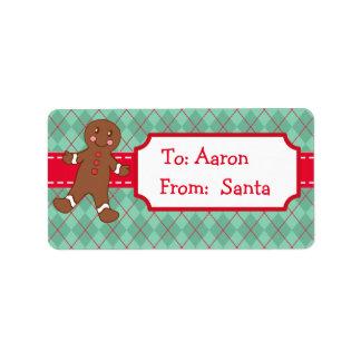 Etiquetas personalizadas del regalo del navidad de etiqueta de dirección