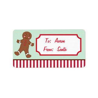 Etiquetas personalizadas del regalo del navidad etiqueta de dirección