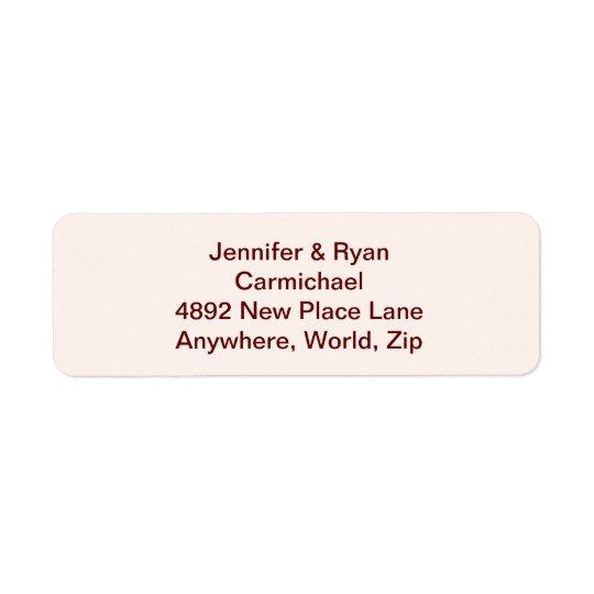 Etiquetas personalizadas del remite de la novia y etiquetas de remite