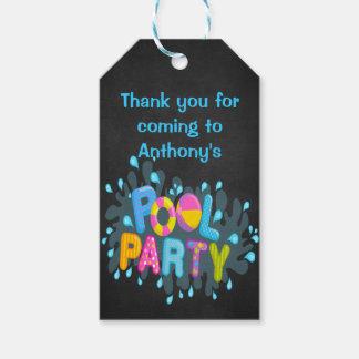 Etiquetas personalizadas fiesta en la piscina etiquetas para regalos